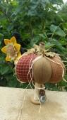 Pique aiguilles Citrouille et son corbeau avec son tournesol