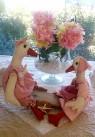 Les petites oies Nina et Lilie sur leur Balançoire